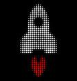 space rocket halftone icon vector image vector image