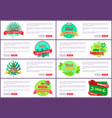 summer 2018 seasonal discount label tropical style vector image vector image