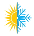 summer winter air conditioning icon2 resize vector image vector image