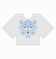 tribal bear tshirt mockup vector image vector image