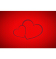 Valentines background simple two hearts vector image vector image