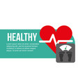 weight scale and heartbeat healthy vector image