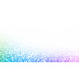 white background with colorful dotted halftone vector image