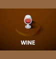 wine isometric icon isolated on color background vector image