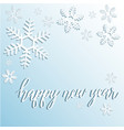 winter holiday background with snowflakes vector image