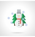 Wintertime flat color icon vector image vector image
