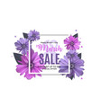 womens day 8 march sale spring design with flower vector image