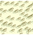 seamless pattern with rowan berries vector image