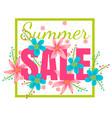 banner for season sale vector image
