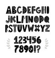 funny hand drawn alphabet vector image