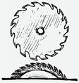 Industrial circular saw disk vector image