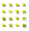 16 transportation icons vector image vector image