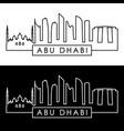 abu dhabi skyline linear style editable file vector image