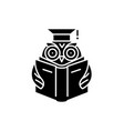 advanced reading black icon sign on vector image vector image