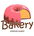 bakery premium quality apple white background vect vector image