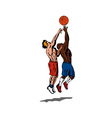 Basketball Player Rebounding vector image vector image