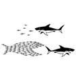 big fish small fish vector image vector image
