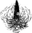 black bullet vector image
