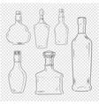 bottles set on transparent background vector image vector image