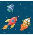 Cartoon rockets vector image