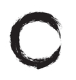 circle shape black grunge background vector image vector image