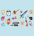 comic colorful patches and badges collection vector image
