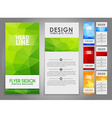 Design geometry polygonal flyers vector image