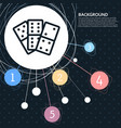 domino icon with the background to the point and vector image vector image