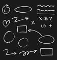 doodle design element doodle lines arrows check vector image