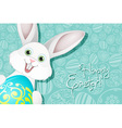 Easter Holiday Background with Egg and Rabbit vector image vector image