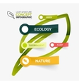 Eco leaf infographic concept vector image