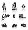 Electronics icon set Black sign on white vector image