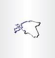 estonia map icon vector image vector image