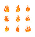 fire frame icon set vector image