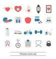 fitness healthy lifestyle icon set fitness vector image