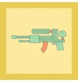Flat shading style icon Kids water gun