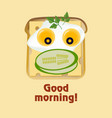 funny face from toast vector image