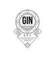 gin vintage label design alcohol industry vector image vector image