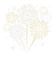 gold and silver fireworks display vector image vector image