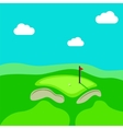 Golf hole green tee background vector image vector image
