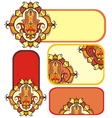 hamsa hand set with ethnic ornaments vector image vector image
