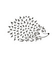 hedgehog sketch funny cartoon vector image vector image