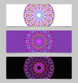 horizontal colorful flower mandala banner vector image vector image