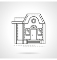 Housing flat line design icon vector image vector image