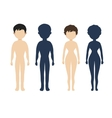 Human body in flat style women men character