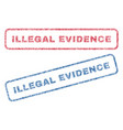 illegal evidence textile stamps vector image vector image