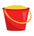 isolated sand bucket vector image vector image