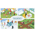 isometric children care concept vector image vector image