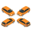 Isometric Hatchback car vector image vector image