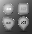 Job Glass buttons vector image